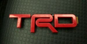Red Emblem Badge Trunk For Toyota Trd Abs Logo 1 5 X 5 Tacoma 4runner Tundra