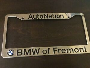 Bmw License Plate Frame Bmw Of Fremont California Auto Nation Metal