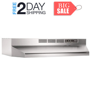 30 inch Kitchen Under Cabinet Ductless Range Hood With Lights Exhaust Fan New