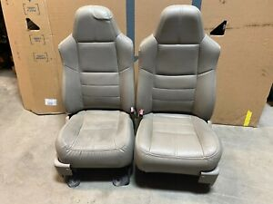 2008 Ford F250 Super Duty Front Leather Bucket Seats With Power And Heat