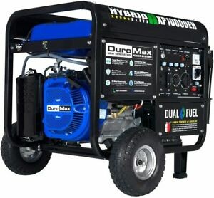 Duromax Xp10000eh Dual Fuel Portable Generator gas Or Propane Powered New