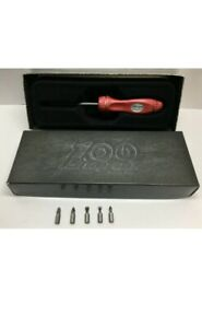 New Snap on 100th Anniversary Ratcheting Screwdriver Ssdmr4banv sealed Box Red