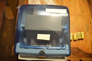 Automated Touchless Paper Towel Dispenser bathroom Wall Mount blue new In Box