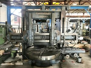 100 Cincinnati Hypro Vertical Boring Mill 91 Table 72 Height 3 Heads Exc