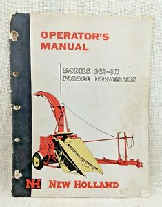 Vintage New Holland Models 601 611 Forage Harvesters Operator s Manual