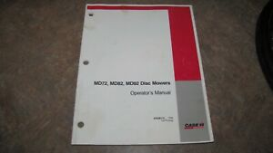 Case Ih Md72 Md82 Md92 Disc Mower Hay Tool Parts Operator Manual