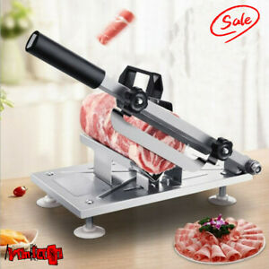 0 3mm 8mm Manual Frozen Meat Slicer Beef Mutton Sheet Roll Cleavers Cutter Tool