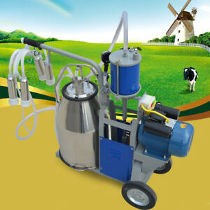 25l Electric Milking Machine For Goats Cows W bucket Sheep Piston 1440rpm