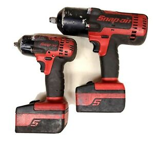 Used Snap On 1 2 And 3 8 Impacts With 18v Batteries Ct8850 Ct8810