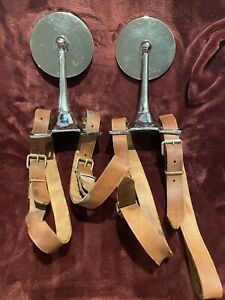 1930s Packard Cadillac Chrysler Buick Side Mount Mirrors Wirh Straps