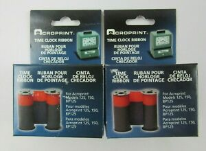 Acroprint 150nr4 Time Recorder Ribbon 2 Color Fits All 125 150 Series Clocks