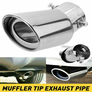 Auto Car Exhaust Pipe Tip Tail Muffler Stainless Steel Replacement Accessories