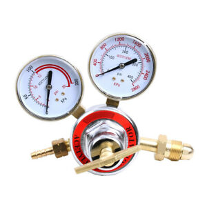 Pressure Acetylene Regulator Welding Gas Gauge Torch Cutting Cga510 W 2 Gauges