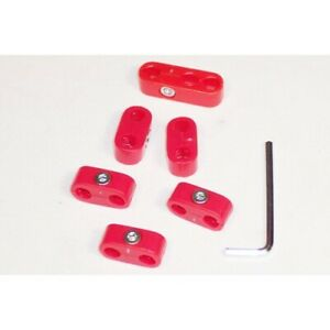 Spark Plug Wire Seperators Red 6 Piece Kit Dunebuggy Vw
