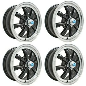 Gt 8 Wheels Black With Polished Lip 5 5 Wide 4 On 130mm Dunebuggy Vw
