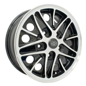 Cosmo Wheels Gloss Black With Polished Lip 5 On 130mm 5 1 2 Dunebuggy Vw