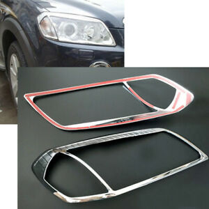 2x Front Left Right Headlight Abs Trim Cover For Chevrolet Captiva Sport 2008 10