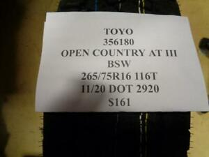 1 New Toyo Open Country At Iii Bsw 265 75 16 116t Tire 356180 Fsr2