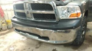 2009 2012 Dodge Ram 1500 Pickup Front Bumper Cover Chrome W o Fog Lamps