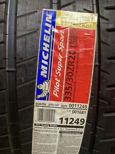 2 New 335 30 20 Michelin Pilot Super Sport Tires