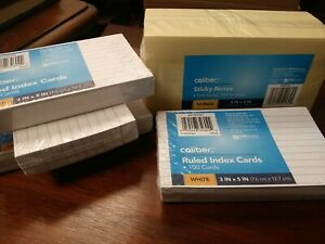 Caliber Sticky Notes 12 Pack Index Cards 4 Lot Brand New