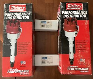 Pair Of Mallory Marine Performance Distributors 9 26305 And Ignition Coils 9 297