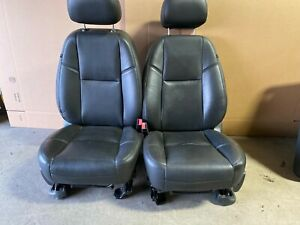 2013 Gmc Yukon Escalade Denali Front Leather Bucket Seats Black W Heat Cool