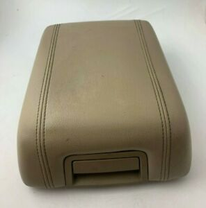 07 14 Ford Expedition Center Console Armrest Lid Arm Rest Cover Leather Tan