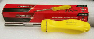 New Snap On Ratcheting Screwdriver High Viz Yellow Hard Plastic Handle Ssdmr4