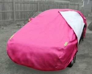 Pink Car Cover Waterproof Exterior Vehicle Multiple Layer Scratch Proof Lining Fits 1968 Mustang