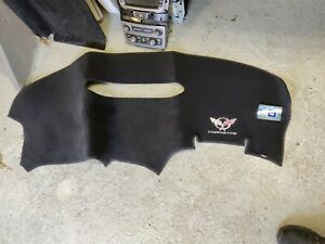 97 04 Corvette C5 Interior Dash Pad Cover Carpet Embroidered Used