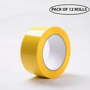 Carton Sealing Adhesive Packing Yellow Color Tape 2 0 Mil 2 X 110 Yds 12 Rolls