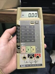 Fluke 8062a Digital Multimeter New Battery No Leads Cables 5 Missing Button
