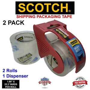 Scotch Shipping Packing Tape 1 88 X 800 22 2yards Heavy Duty 2 Pack