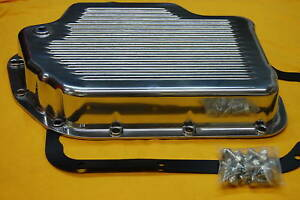 Turbo Th 400 Polsihed Aluminum Transmission Pan Alum Trans Fits Camaro Chevelle