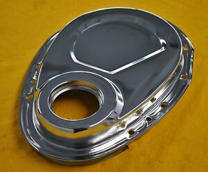 Timing Chain Cover Sbc Chevy Chrome 383 406 305 327 350 Small Block Chevy