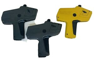 Lot Of 3 Monarch 1110 Pricing Guns Yellow And Black