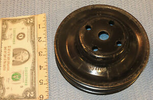 1975 Dodge Dart 318 360 Double Groove Water Pump Pulley With A C 3698805