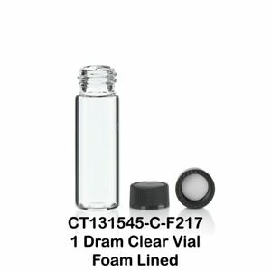 1 Dram 4 Ml 15x45 Mm Clear Glass Vials With Screw Caps