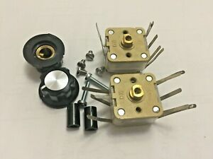 2 Off Qrp Atu crystal Set 500pf Variable Capacitors And Mounting Hardware