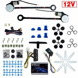 Universal 2 Door Electric Power Window Lift Regulator Conversion Kit Pickup Sale
