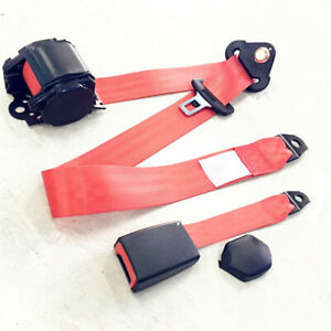 3 Point Belts Polyester Car Safety Seat Belt With Quick Release Camlock 2 Sets