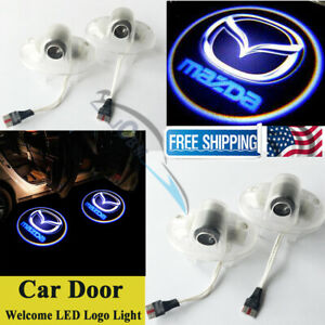 2pcs Led Laser Ghost Door Projector Courtesy Logo Lights For Mazda 6 A8 Rx8 Cx9