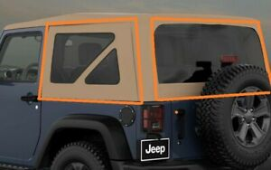 2007 2018 Jeep Wrangler 6ag89ru5ab Soft Top Jk Tinted Tan Factory Canvas New