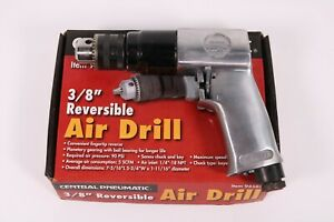 Central Pneumatic Reversible Air Drill 3 8 94585 W Keyed Chuck New In Box