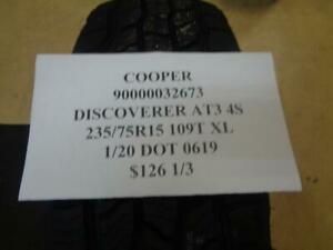 1 New Cooper Discoverer At3 4s 235 75 15 109t Tire 90000032673 Q1