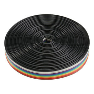 1 Roll 5m 10 Pin Cable Rainbow Pattern Durable Useful Flat Ribbon For Cafe Shop