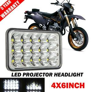 4x6 Inch Motorcycle Led Headlight Projector Hi lo Beam For Honda Xr Suzuki Drz