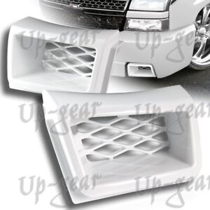 For Chevy Silverado 1500 Ss style Painted White Air Duct Front Bumper Caliper