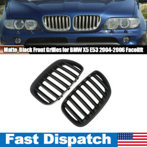 For Bmw E53 X5 4 Door 2004 2005 2006 Suv Kidney Front Bumper Grill Matte Black